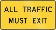 All Traffic Must Exit Stock Illustration