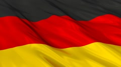 Germany flag Seamless Stock Footage