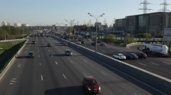 MOSCOW.RUSSIA-2013: Traffc on the Moscow Ring Road Stock Footage