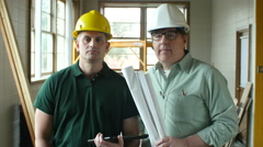 Architect and Contractor, portrait - stock footage