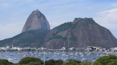 Time lapse - Sugar Loaf and Botafogo Bay in Rio de Janeiro, Brazil Stock Footage