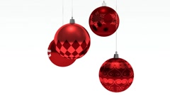 Christmas bauble hanging. Merry Christmas and Happy New Year. - stock footage