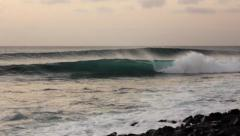 atlantic ocean waves storm sea spray - stock footage