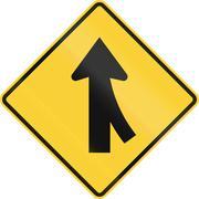 Merge Ahead - stock illustration