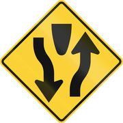 Begin Divided Highway - stock illustration