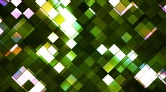 Broadcast Twinkling Squared Diamonds, Green, Abstract, Loopable, HD Stock Footage
