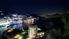 4K Motion Control Time Lapse of Night Cityscape in Atami Japan -Pan/Tilt-CloseUp Stock Footage