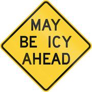 May Be Icy Ahead - stock illustration