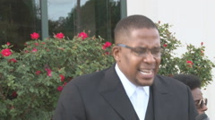 Broll of Malik Zulu Shabazz at news conference  Stock Footage