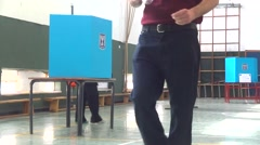 Israel election voting booth Stock Footage