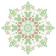 Damask  Pattern. Orient Colorful Ornament Stock Illustration
