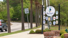 Mount Pleasant, South Carolina sign (Clip 1 of 2) Stock Footage