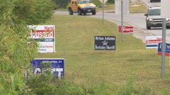 Political campaigns in South Carolina - stock footage