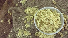 Heap of Soy Flour (loopable) Stock Footage