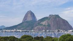 Time lapse - Sugar Loaf and Botafogo Bay in Rio de Janeiro, Brazil - 4K Stock Footage