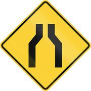 One Lane Road Ahead Stock Illustration