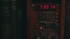 Old digital clock - stock footage