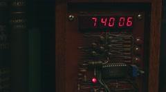 Old digital clock Stock Footage