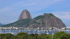 Sugar Loaf and Botafogo Bay in Rio de Janeiro, Brazil, Time lapse Stock Footage