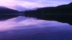 Calm lake in Biei, Hokkaido, Japan Stock Footage