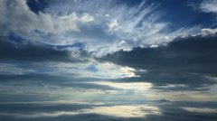 Clouds moving in the sky Stock Footage