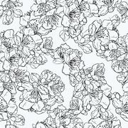 Cherry blossom, sakura seamless pattern. Stock Illustration