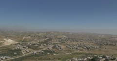 Judea panoramic view 4K - stock footage