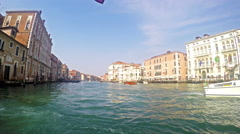 Tourist boat pov to GrandeCanal in Venice Stock Footage