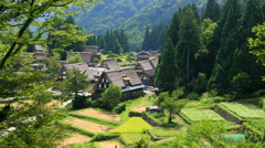 Ainokura, Toyama Prefecture, Japan Stock Footage