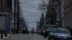 Cuban busy street - stock footage