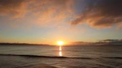 Sunrise at sea in Hokkaido, Japan Stock Footage