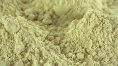 Portion of Soy Flour (loopable) - stock footage