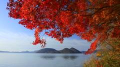 Lake Toya, Hokkaido, Japan Stock Footage