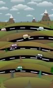 Countryside Roads - stock illustration