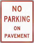 No Parking On Pavement Stock Illustration