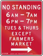 No Standing Except Farmers Market Piirros