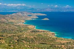View of beautiful Myrtos bay and idyllic beach on Kefalonia island, Greece Stock Photos