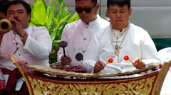 Musicians perform Thailand endemic song Stock Footage