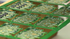 Laying out circuit components Stock Footage