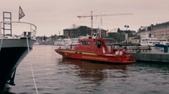 Rescue Boat Stock Footage