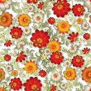Stock Illustration of abstract seamless floral ornament