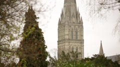 Salisbury Cathedral (Close up) - stock footage