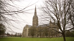 Stock Video Footage of Salisbury Cathedral