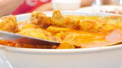 4k Ultra HD time lapse close-up video of Chicken Curry Stock Footage