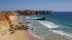 Algarve beach Tonel Stock Footage