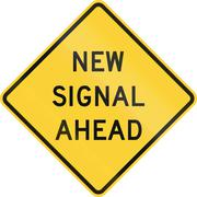New Signal Ahead Stock Illustration