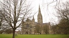 Salisbury Cathedral BEST FRONT SHOT - stock footage