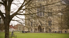 Salisbury Cathedral Entrance Stock Footage