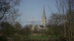 Salisbury Cathedral BEST - stock footage