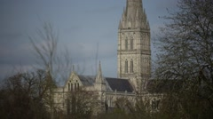 Salisbury Cathedral - stock footage